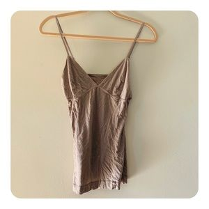 Wilfred | Aritzia Mauve Strappy Bustier Tank Top